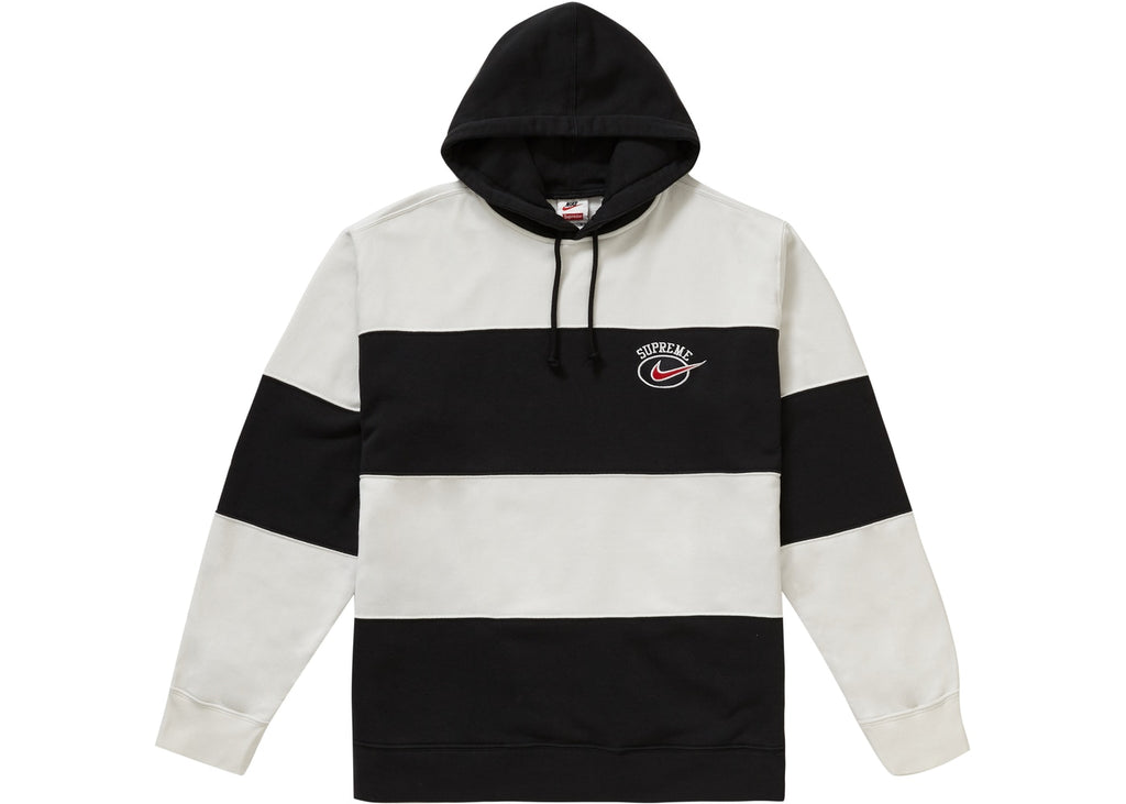 Supreme/Nike striped hoodie black