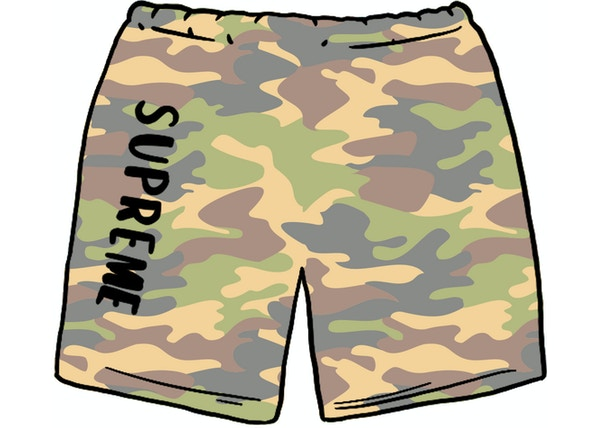 Supreme Overdyed Sweatshort Painted Camo