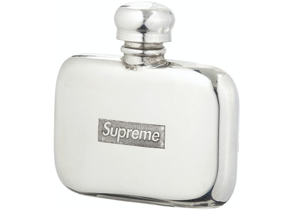 Supreme Pewter Mini Flask Silver
