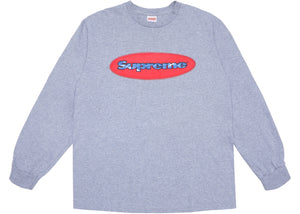 Supreme Ripple LS Tee Heather Grey