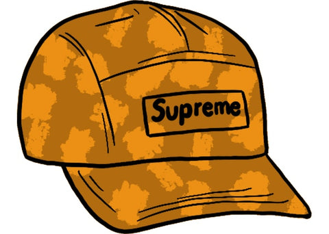 Supreme Satin Digi Camo Camp Cap Orange