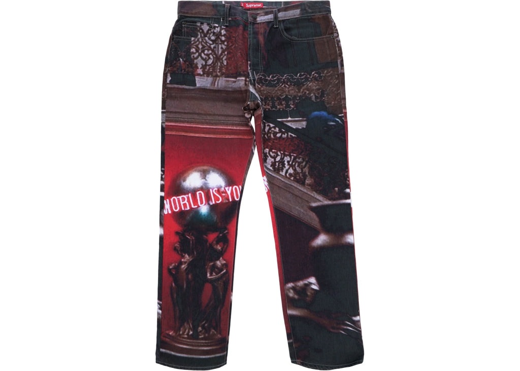 Supreme Scarface the World Is Yours 5-Pocket Jeans Multi