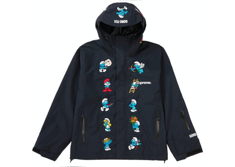 Supreme Smurfs GORE-TEX Shell Jacket Black