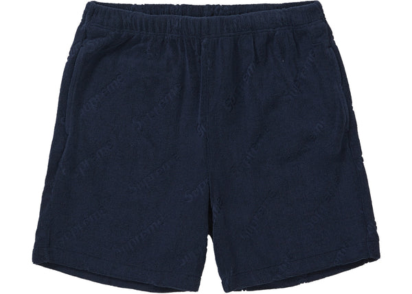 Supreme Terry Jacquard Logo Short Navy