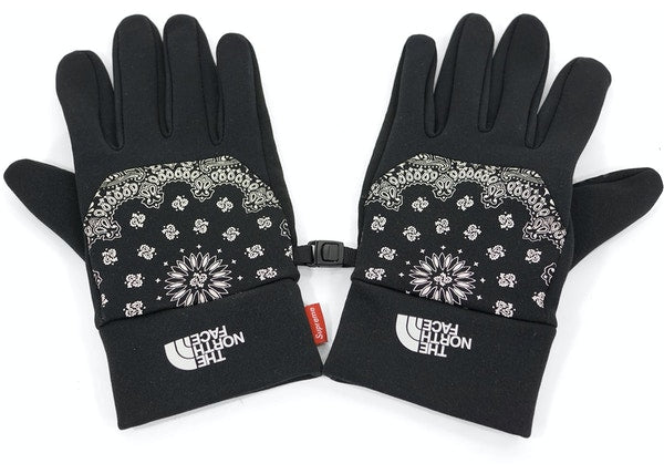 Supreme The North Face Bandana Gloves Black