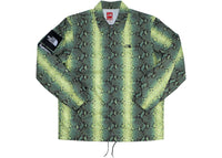 Supreme The North Face Snakeskin Taped Seam Coaches Jacket Green