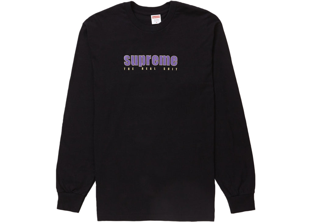 Supreme The Real Shit L/S Tee Black
