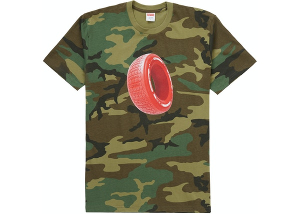 Supreme Tire Tee Woodland Camo