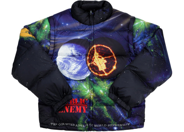 Supreme UNDERCOVER/Public Enemy Puffy Jacket Multi