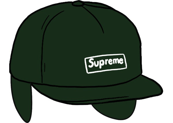 Supreme WINDSTOPPER Small Box Earflap 6-Panel Olive