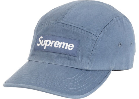 Supreme Washed Chino Twill Camp Cap (FW20) Slate