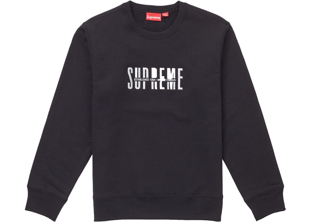 Supreme World Famous Crewneck Black