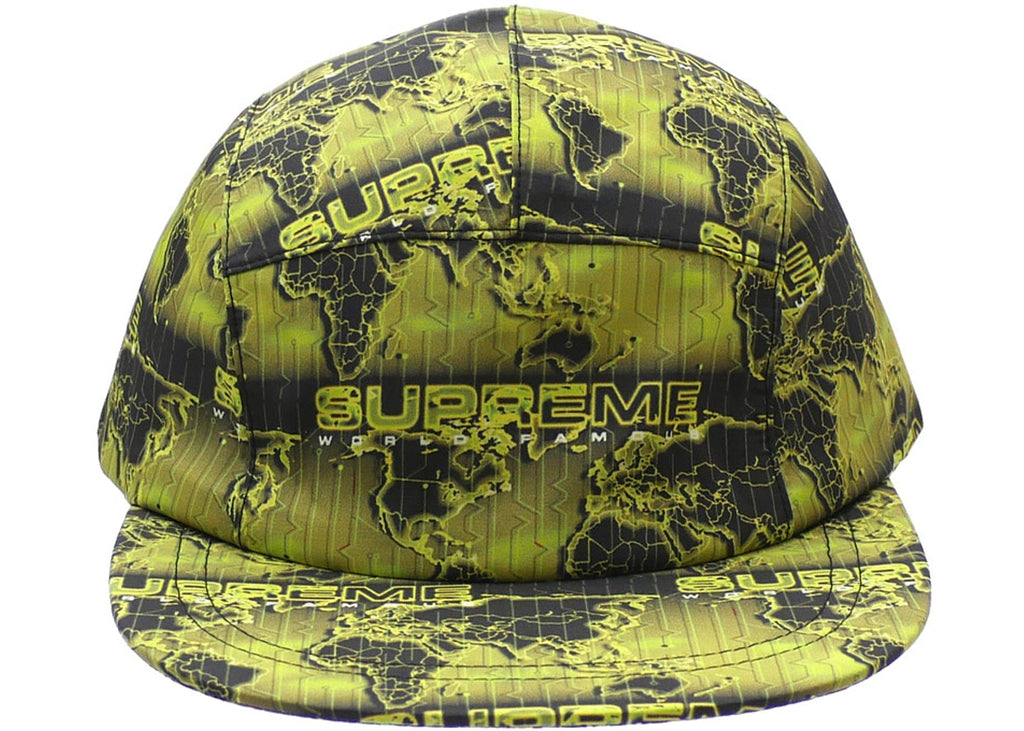 Supreme World Famous Taped Seam Camp Cap Acid Green