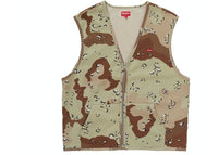 Supreme Zip Up Sweat Vest Chocolate Chip Camo