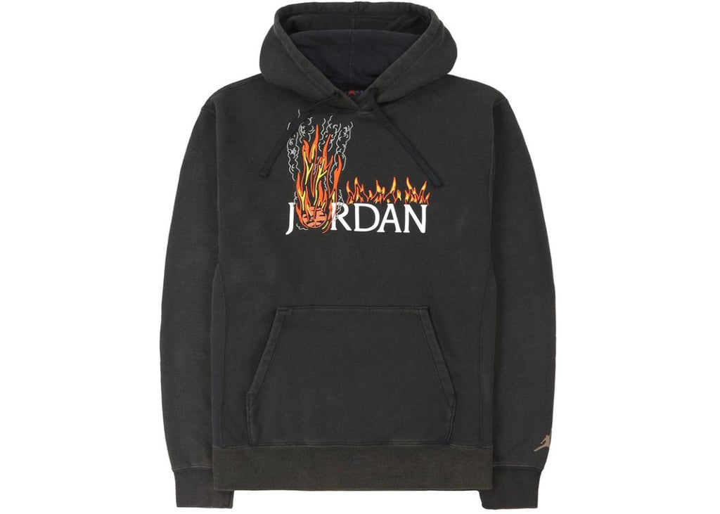 Travis Scott MJ Fleece Hoodie Black