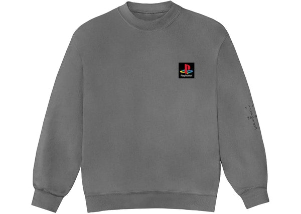 Travis Scott PS Classic Crewneck Washed Grey