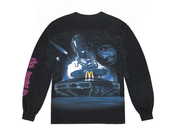 Travis Scott x McDonald's Action Figure Space L/S T-Shirt Black
