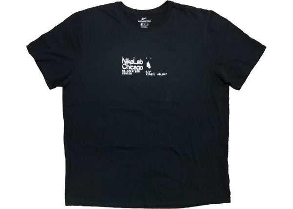 Virgil Abloh Nike Chicago Tee Black