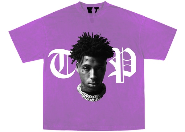 YoungBoy NBA x Vlone Peace Hardly Tee Purple