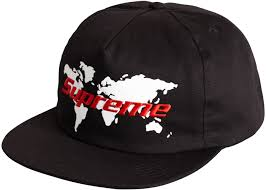 Supreme World  5 panel hat Black