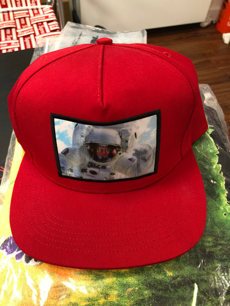 Supreme Astronaut Hologram 5 Panel Red