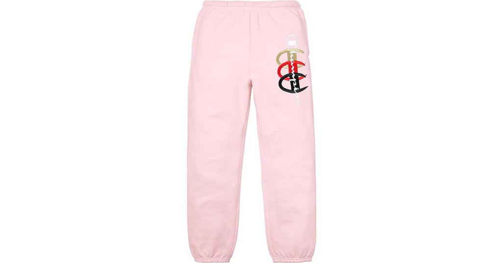Supreme Champion Stacked C Sweatpant Light Pink