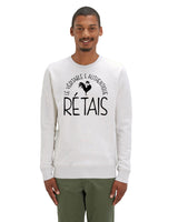 "Sweatshirt Homme "" Le véritable & authentique Rétais "" Collection Réthaise."