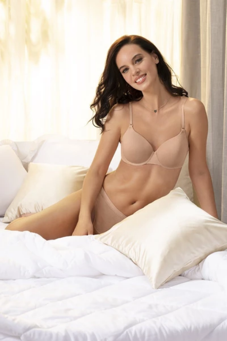 Amante Signature Cotton Padded Wired Bra | BeeBabe.com