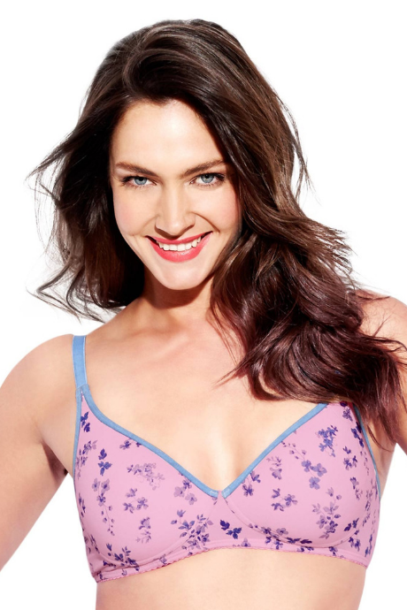 Enamor T-Shirt Lightly Padded Bra-Bluebell Print
