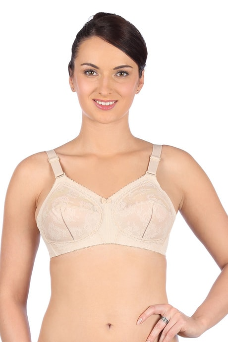 Triumph Three Sectioned Full Coverage Super Support Bra- Skin | BeeBabe.com