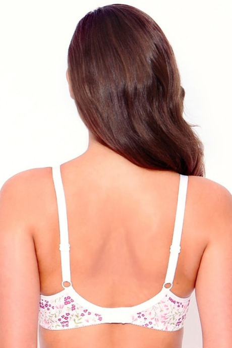 Enamor Double Layered Super Support Bra- White And Pink | BeeBabe.com