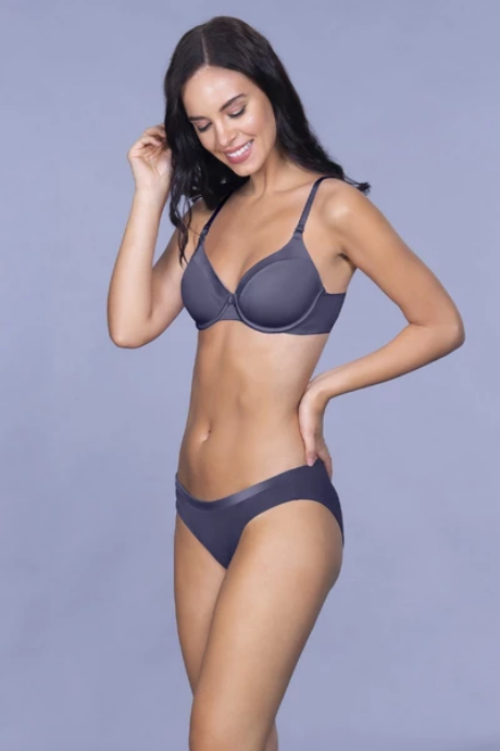 Amante Satin Edge Padded Wired Bra | BeeBabe.com