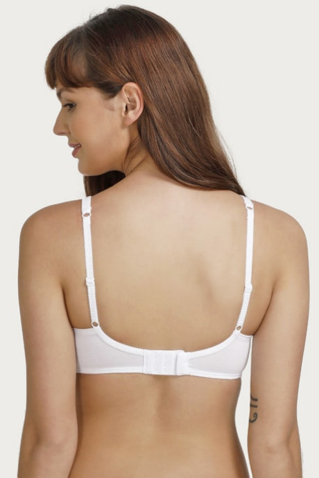 Enamor Single Layer Super Support Bra- White | BeeBabe.com