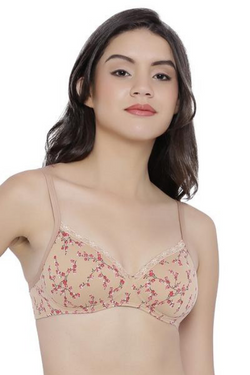 Amante Cotton Casuals Non-Wired Printed T-Shirt Bra | BeeBabe.com