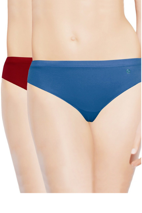 Enamor Mid Waist Panty - Multi Color - Pack of Two | BeeBabe.com