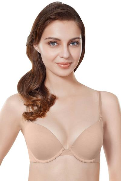 Amante Everyday Pushup Padded Cotton Bra(Skin) | BeeBabe.com