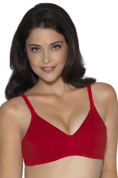 Amante Fresh Aloe Finish Non-wired Bra(Red) | BeeBabe.com