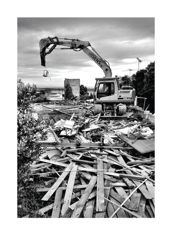 Demolition Black and White - A3 Art Print