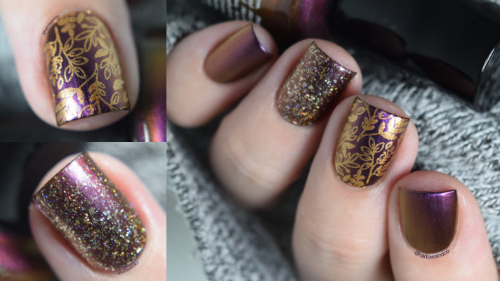 KBShimmer Wine Not? Nail Art