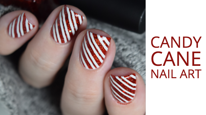 Candy Cane nail art Christmas nails