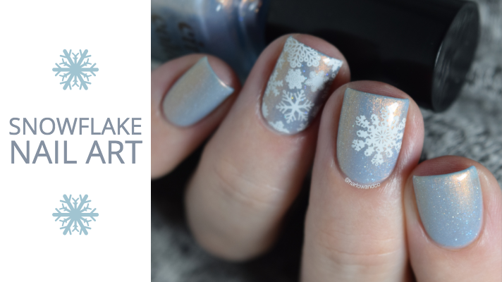 Snowflake nail art Winter Christmas nails