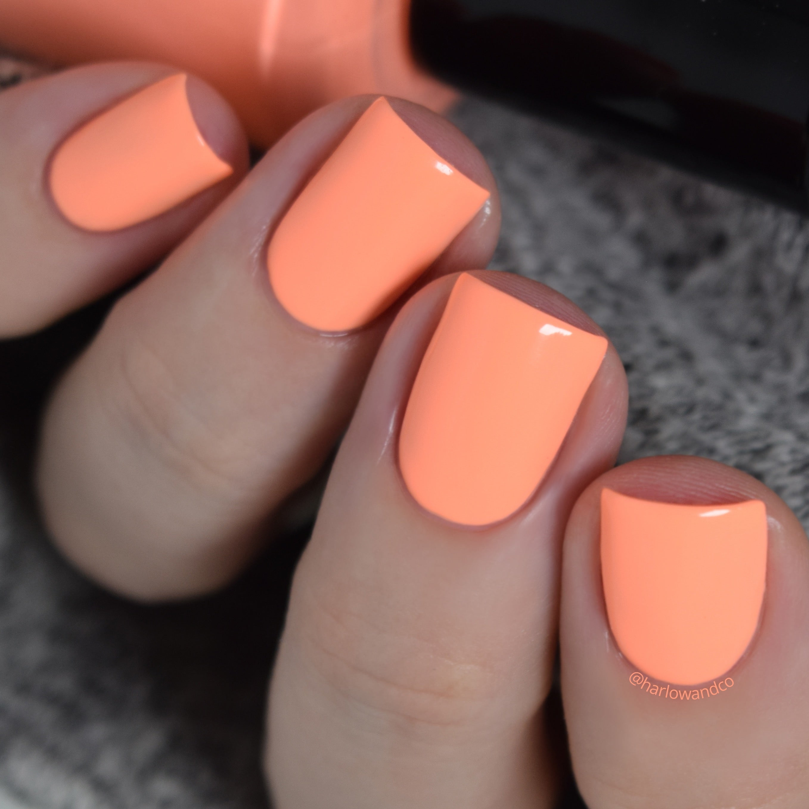KBShimmer Papaya Don't Preach neon orange creme nail polish Seas the Day Collection