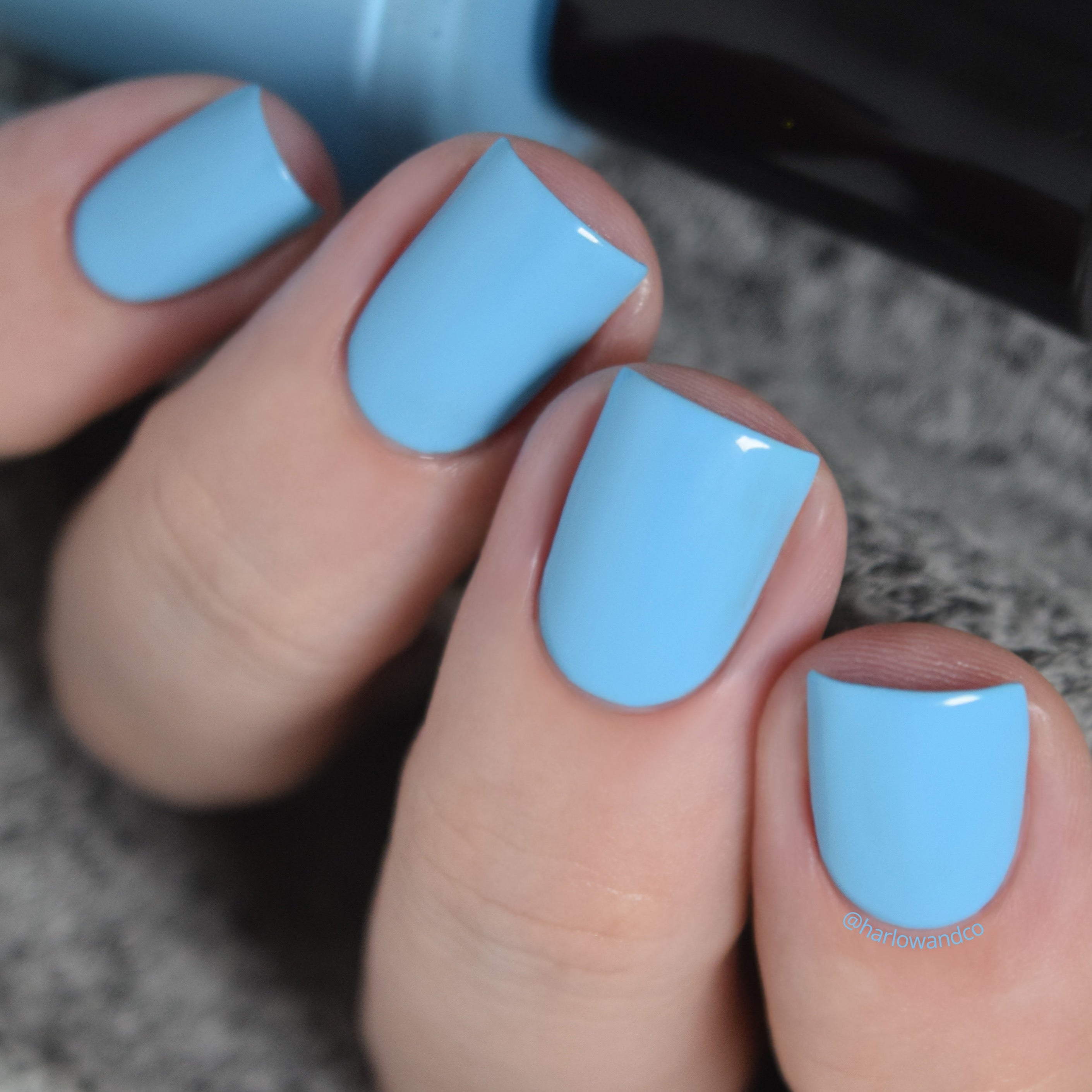 KBShimmer Harbor A Crush bright blue creme nail polish Seas the Day Collection