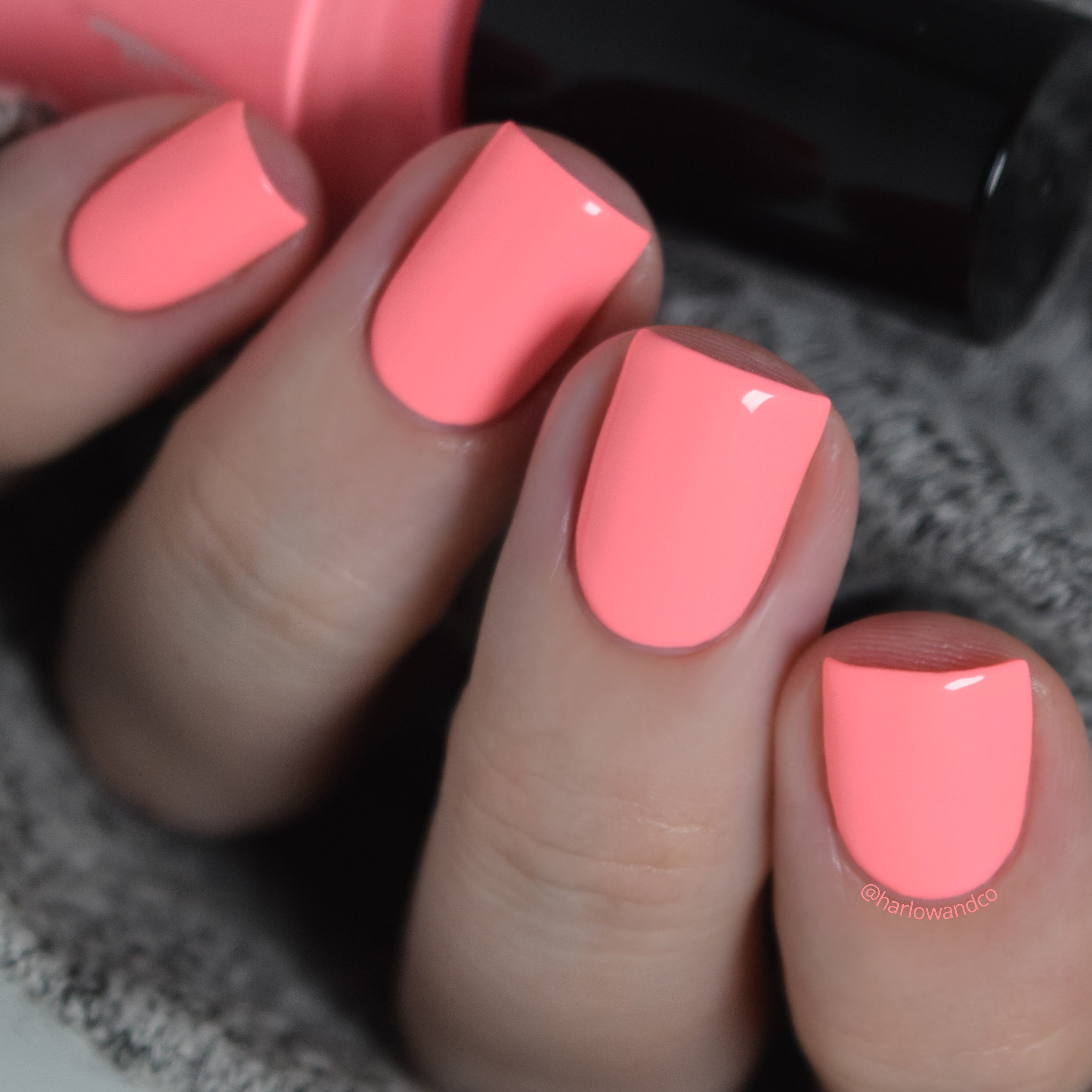 KBShimmer Guava Nice Day faded neon coral creme nail polish Seas the Day Collection