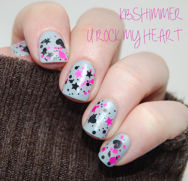 KBShimmer U Rock My Heart China Glaze Sea Spray Matte Top Coat
