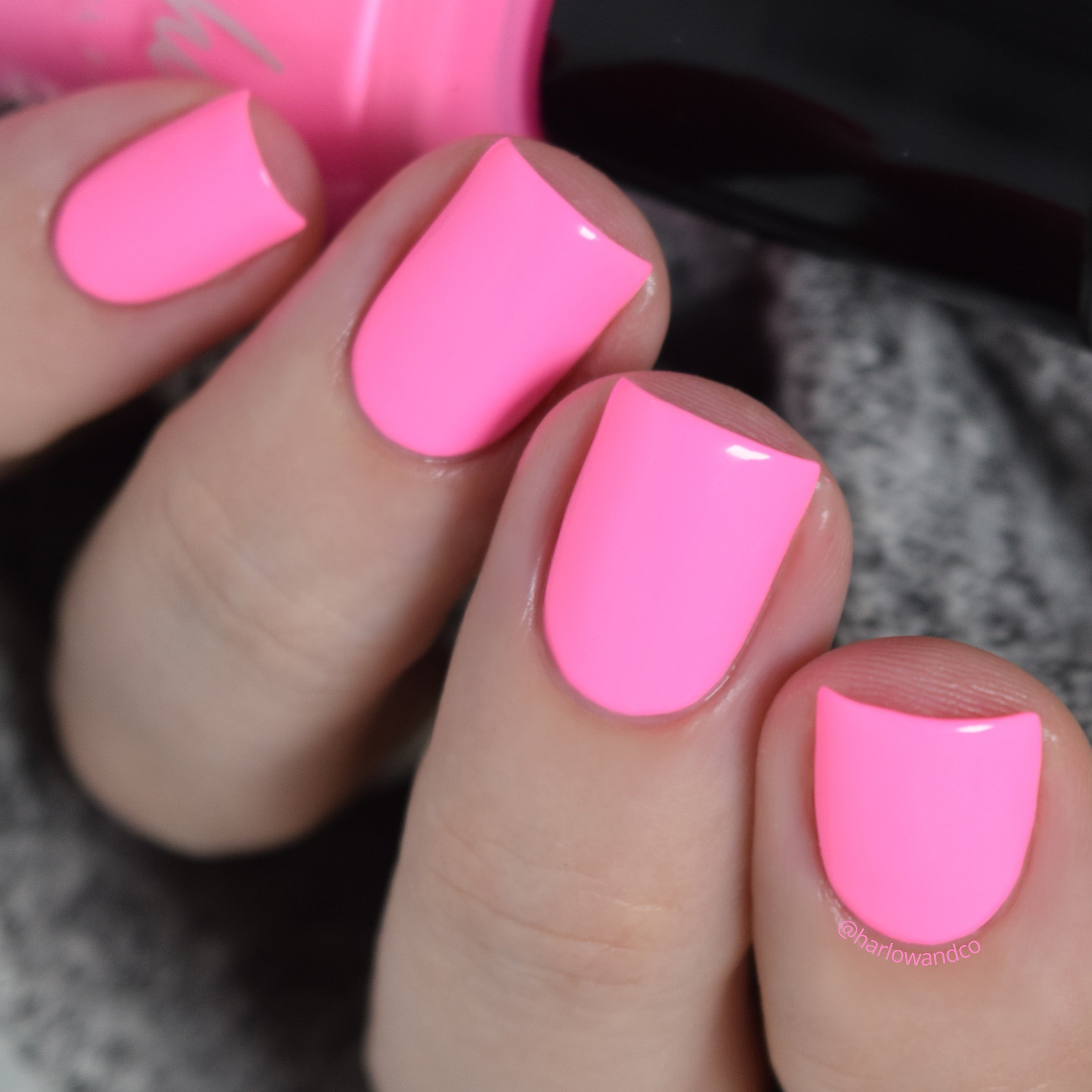 KBShimmer Pink or Swim neon pink creme nail polish Seas the Day Collection