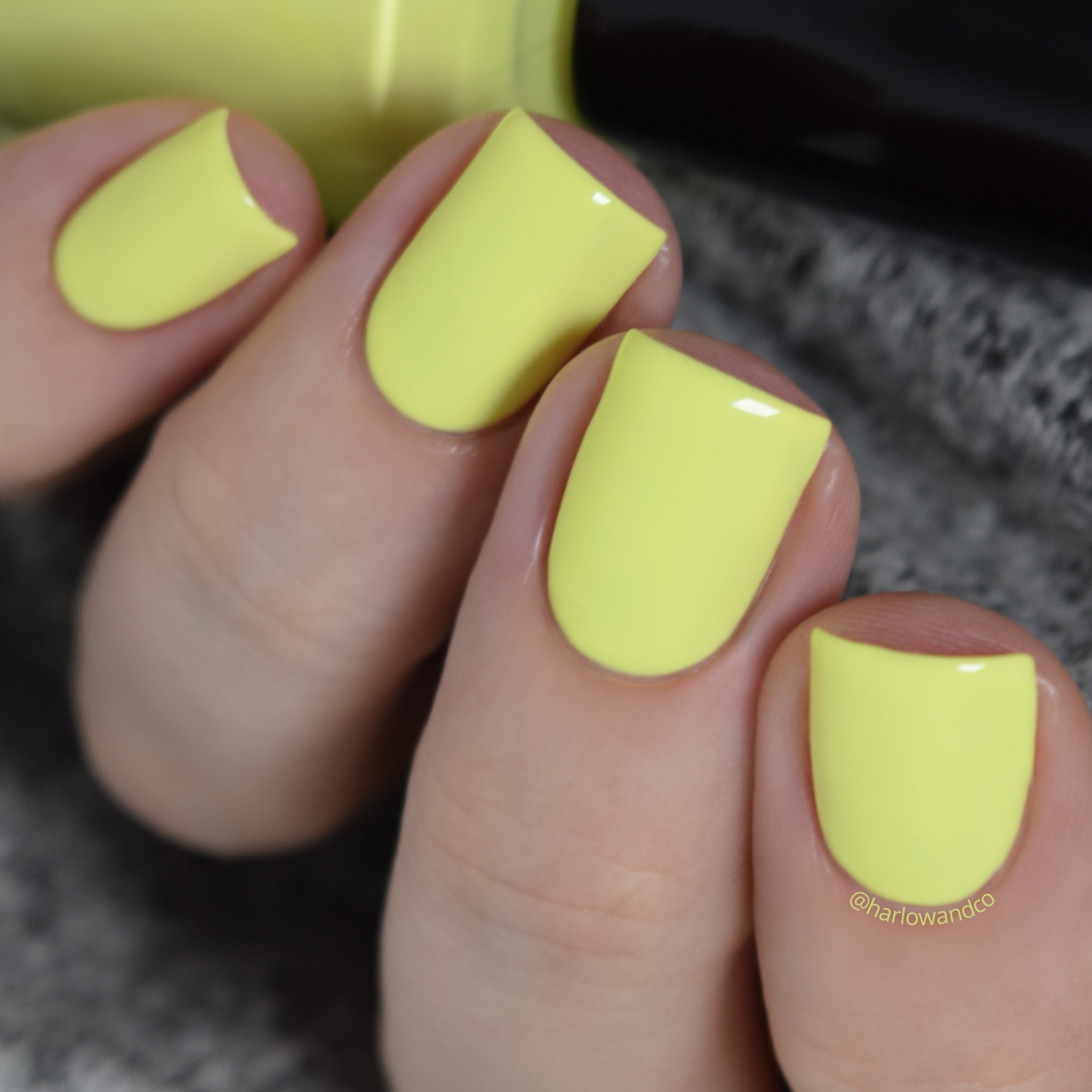 KBShimmer Sand By Me neon lemon yellow creme nail polish Seas the Day Collection