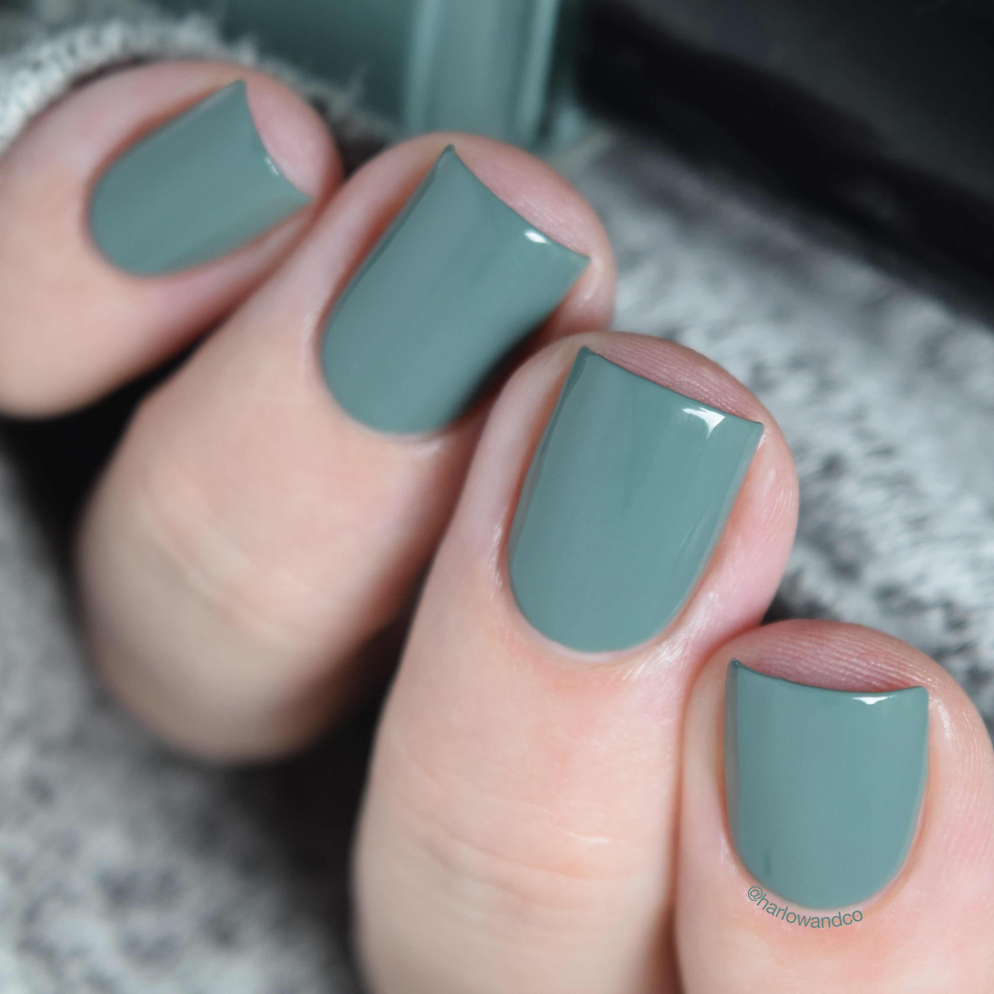 Cirque Colors Rockaway dusty teal creme nail polish Metropolis FW18 Collection