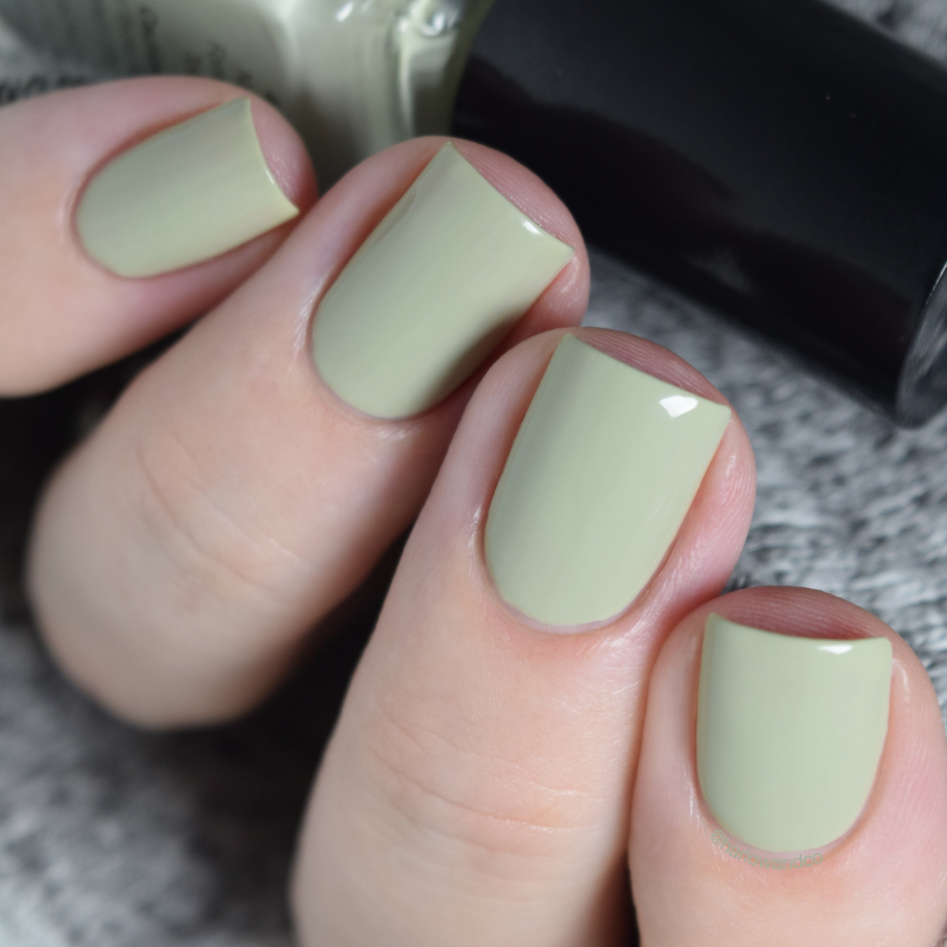 Cirque Colors Carnegie pale green creme nail polish Metropolis FW18 Collection