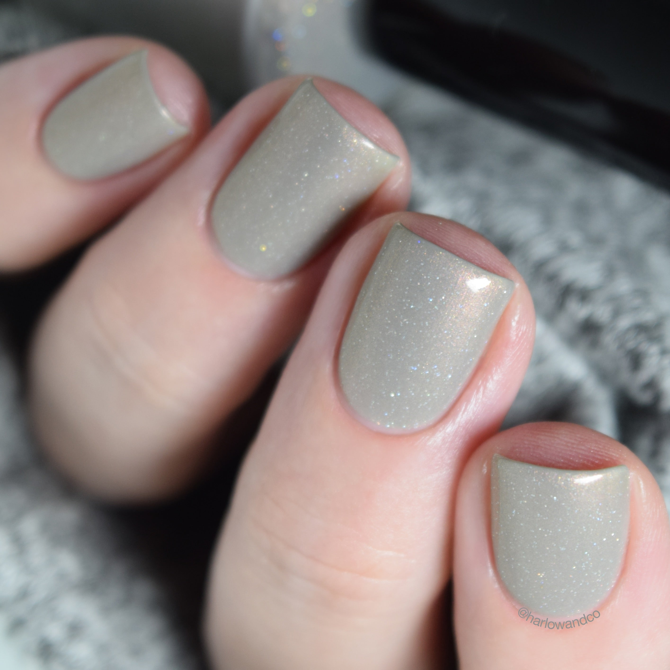 KBShimmer Taupe Notch neutral shimmer nail polish Winter 2018 Collection